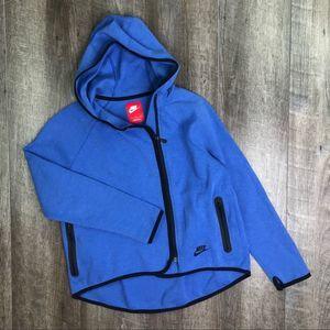 Nike Blue Tech Fleece Hoodie Zip Up Size Small